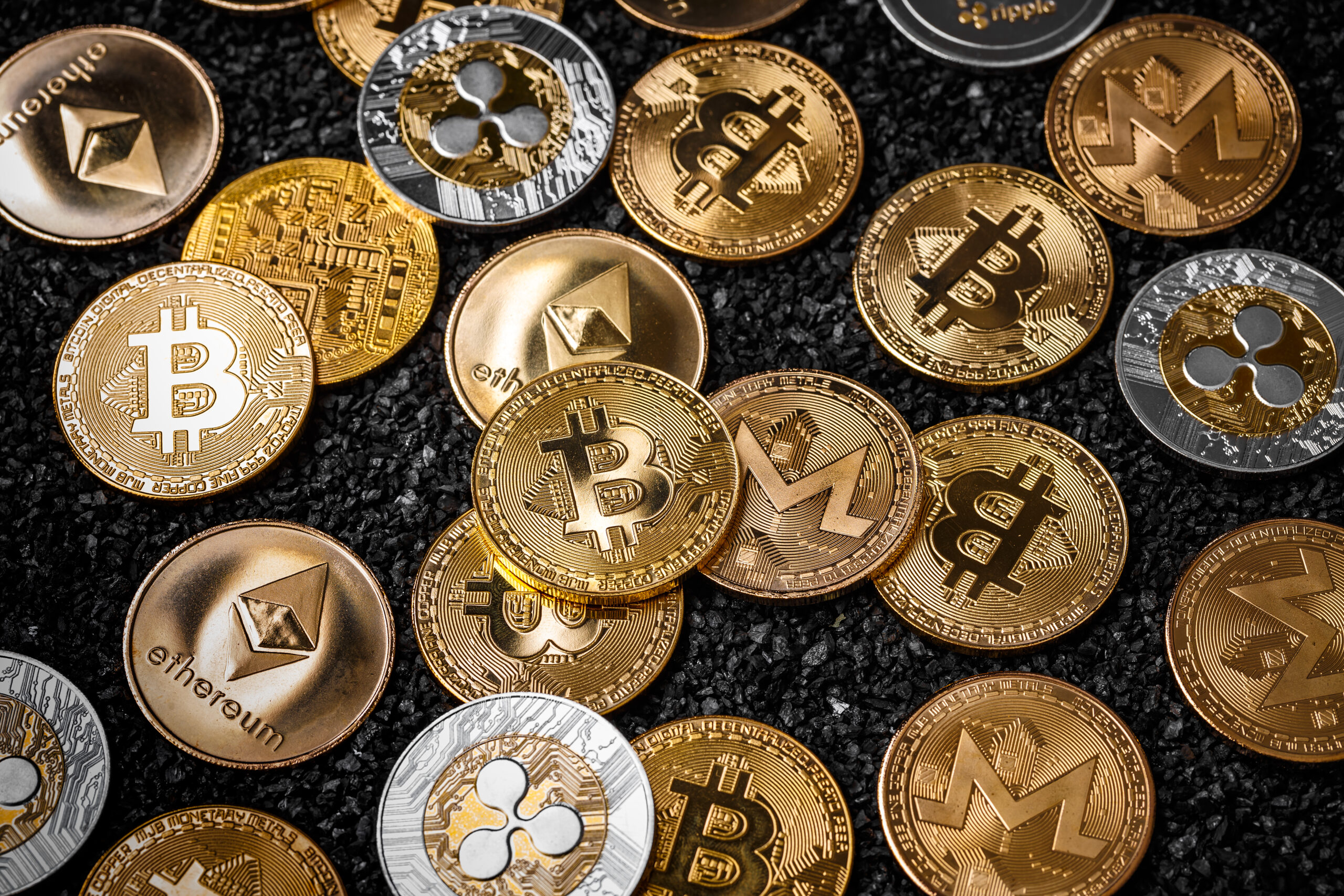 stack of cryptocurrency scaled